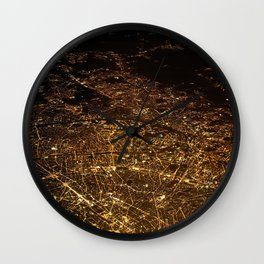 The City Lights (Color) Wall Clock