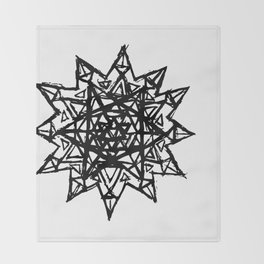 Merkaba of Light Throw Blanket