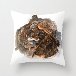 Wolf Mom Throw Pillow