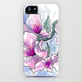 Cherry Blossom Ink and Watercolor iPhone Case