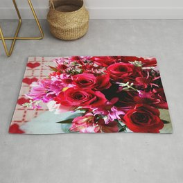 Hearts And Flowers Rug
