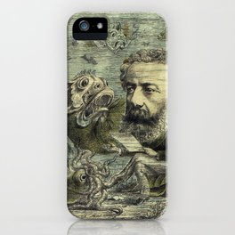 Vintage Jules Verne Periodical Cover iPhone Case
