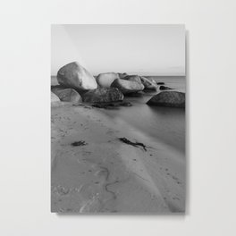 Stones in the sea 3 Metal Print