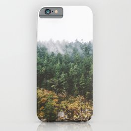 Foggy Vancouver Island iPhone Case
