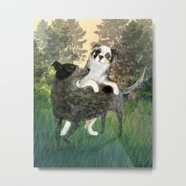 Golden Park Playtime Metal Print
