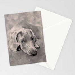 Weimaraner Dog Mixed Media Stationery Cards