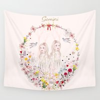 gemini Wall Tapestries featuring Gemini by Danse de Lune