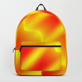 Bright pattern of blurry red and yellow lines and curly patterns. Backpack