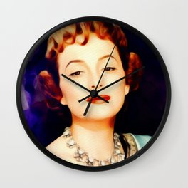 Olivia de Haviland, Vintage Actress Wall Clock