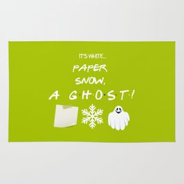 """Paper, Snow, A Ghost!"" - Friends TV Show Rug"