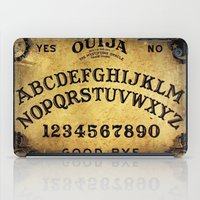 ouija iPad Cases featuring Ouija Board by Lostfog Co.