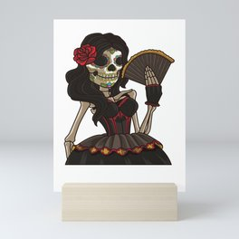 Skeleton Lady of the Dead | La Calavera Catrina Mini Art Print