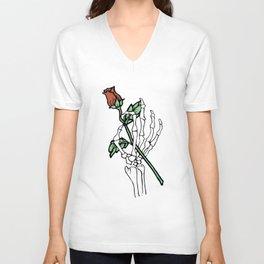 Death's Hand Ringer girlfriend  t-Shirts Unisex V-Neck