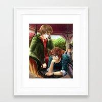 hetalia Framed Art Prints featuring Hetalia spamano by Sly Blue