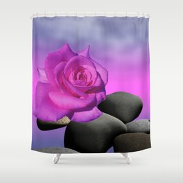 just a purple rose Shower Curtain