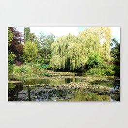 Willow Tree in Monet's Garden  Canvas Print