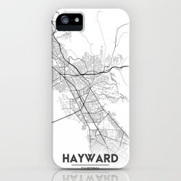 Minimal City Maps - Map Of Hayward, California, United States iPhone Case