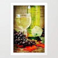 wine Art Prints featuring Wine by ThePhotoGuyDarren