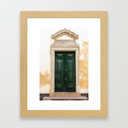 Old door in Tavira, Portugal Framed Art Print