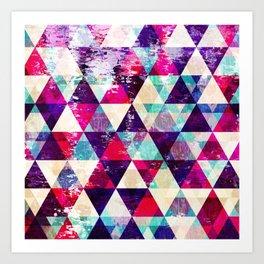 "Retro Geometrical Abstract Design ""Josephine"" inspired Art Print"