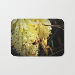 Bee on Yellow Flower Bath Mat