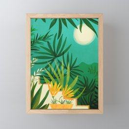 Exotic Garden Nightscape / Tropical Night Series #2 Framed Mini Art Print