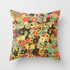 Nineteen Shapes Throw Pillow