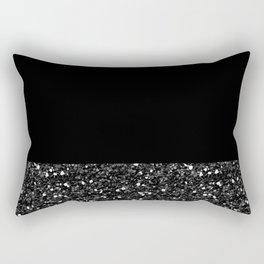 Glitter Colorblock Rectangular Pillow