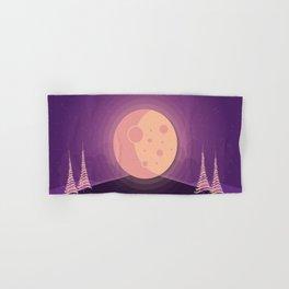 Night time full moon Hand & Bath Towel