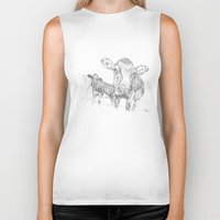 cows Biker Tanks featuring Cows by George Terry