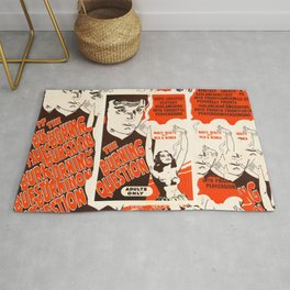 Old poster about drugs Rug
