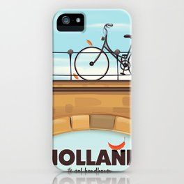 Holland Bicycle travel poster iPhone Case