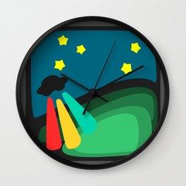 U.F.O's superpowerful beams Wall Clock