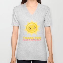 Thank You Have A Nice Day | Grocery Unisex V-Neck