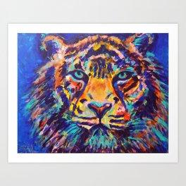 Turquoise-Eyed Tiger Art Print