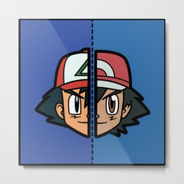 Old & New Ash Ketchum Metal Print