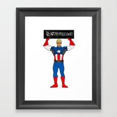 #NotMyPresident Framed Art Print