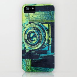 Green Retro Vintage Kodak Camera iPhone Case