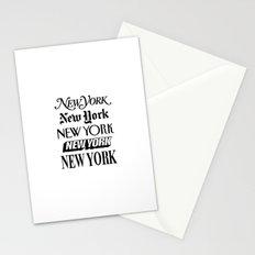 New York New York Newsprint Typographic Stationery Cards