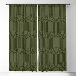 Art Deco Arch Pattern VIII Blackout Curtain