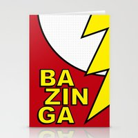 bazinga Stationery Cards featuring Bazinga by Bazingfy