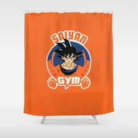 gym Shower Curtains featuring Gym G. by Buby87