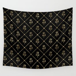 Black & Gold Rose Princess Pattern Wall Tapestry