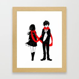 Red Scarf of Fate Framed Art Print