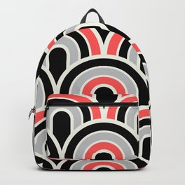 Rainbow Connection:  Black, Coral, Grey Backpack