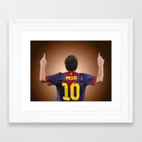 messi Framed Art Prints featuring Messi by Scott Harris