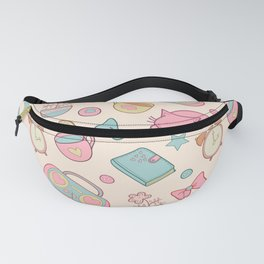 cute morning vector seamless pattern Fanny Pack