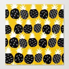 Black pineapple. Canvas Print