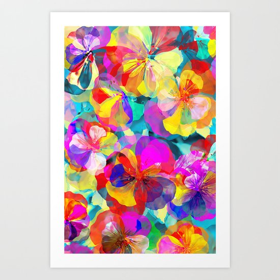 Flower carpet(56) Art Print