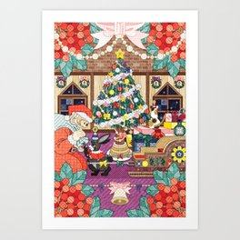 Christmas illustration Art Print